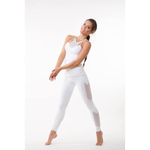 Fishbone fitness  leggings, fehér 'L'