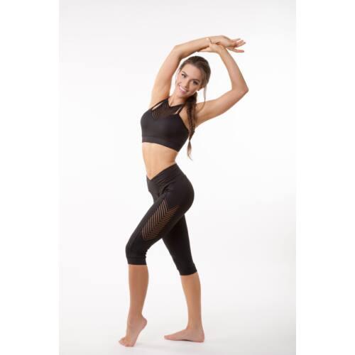 Fishbone fitness  térdnadrág, fekete 'M'