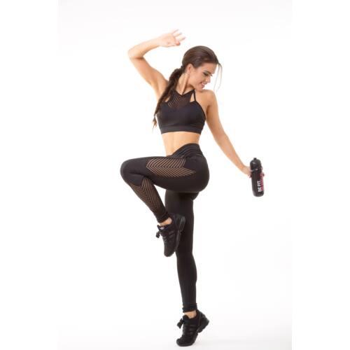 Fishbone fitness  top kivehető szivacsbetéttel, fekete 'L'