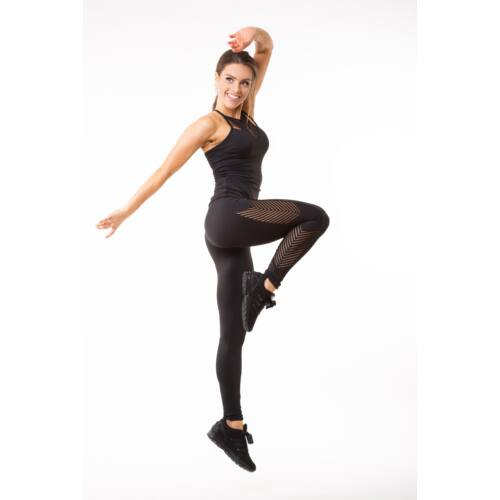 Fishbone fitness  leggings, fekete 'L'