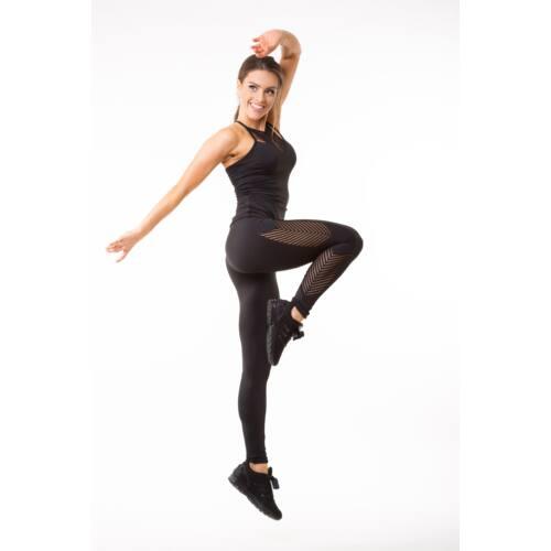 Fishbone fitness  leggings, fekete 'M'