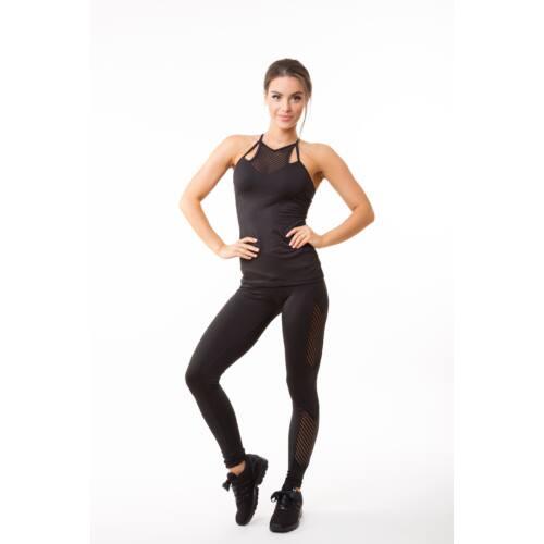 Fishbone fitness  trikó belső toppal szivaccsal, fekete 'L'
