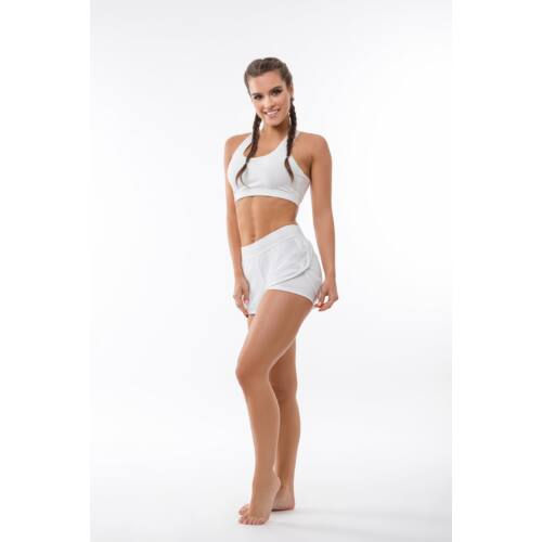 Indigo Fitness Style - Fishnet short, fehér