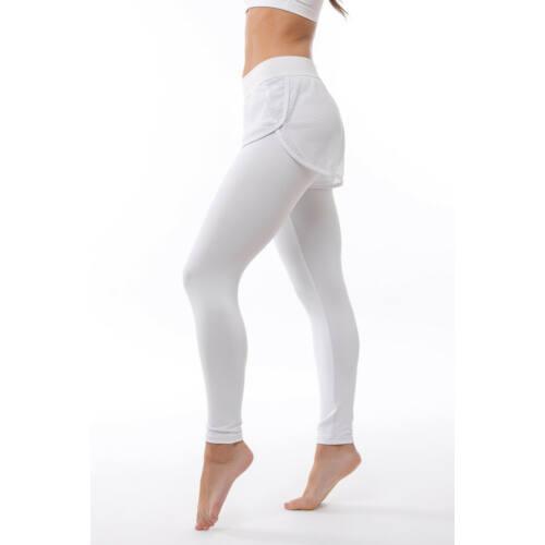 Indigo Fitness Style -Fishnet fitness shortos leggings, fehér