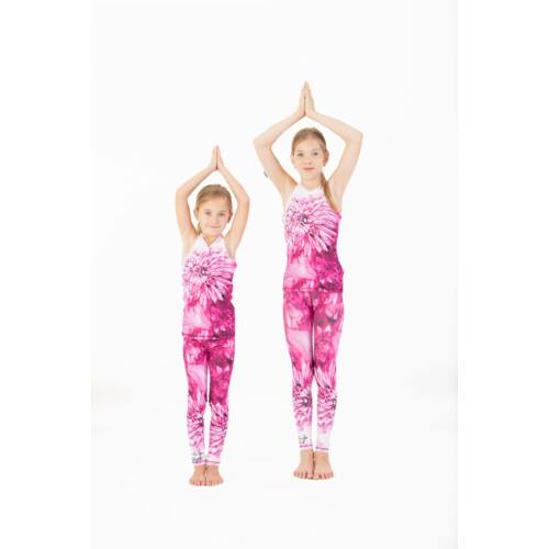 Kids Harmony Pink fitness leggings, 146-152