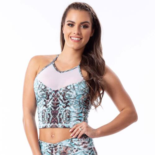 Indigostyle fitness top – Snake Blue