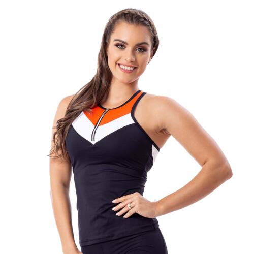 Indigo style fitness trikó – Tricolor orange