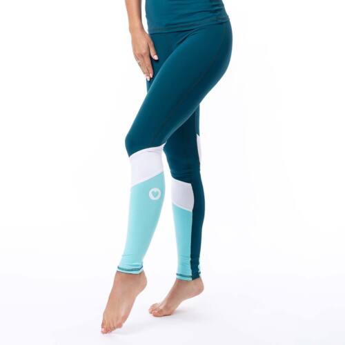 Indigostyle fitness leggings – Tricolor petrol kék
