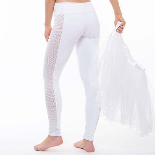 Indigo Fitness Style - Vichy fitness bokanadrág, leggigns, fehér