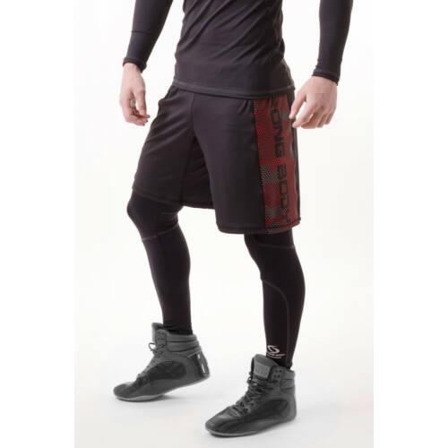 1776375218 Strong Body CAMO edző rövid nadrág, fekete-zöld army, XL - Férfi ...