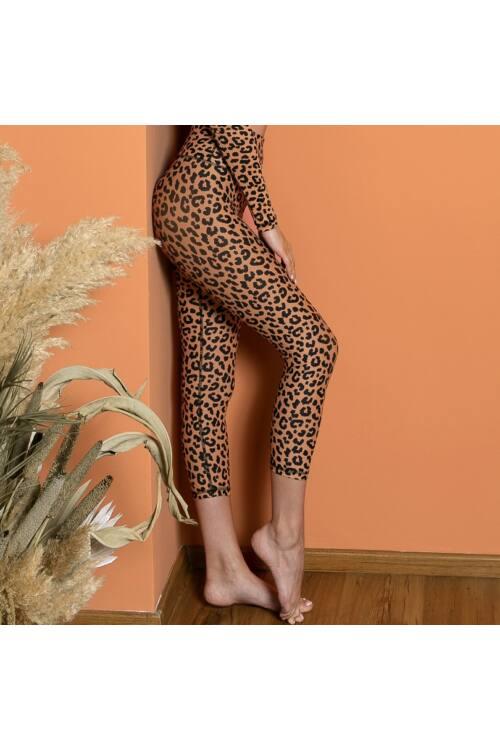 Indi-Go Leopard Skin capry 'M'