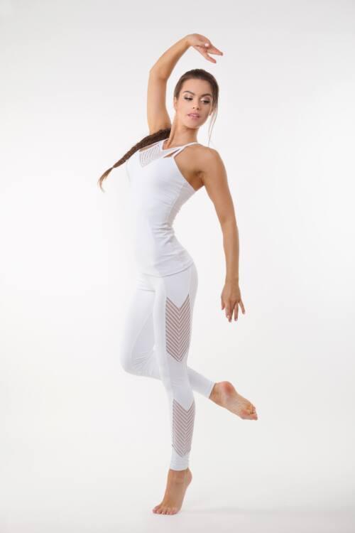 Indigo Fitness Style- Fishbone fitness trikó, fehér