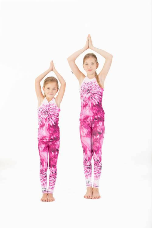 Kids Harmony Pink fitness leggings, 146-152